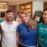 Nathalie Freitas, Daniel Fantinate e Giuliana Orçati, da R11 Travel e Camila Tambellini, da Ancoradouro