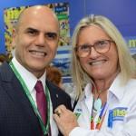 Nelson Oliveira, da Alitalia, e Rosa Masgrau, do M&E