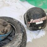 Nem Jesus salva! Olha esse capacete que foi achado na praia