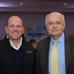 Nicolás Casasfranco, da Procolombia, e Darío Montoya, embaixador da Colômbia
