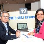 Olympio Pefreira, da Viajar Barato, e Anna Marise Coelho, da One & Only Resorts