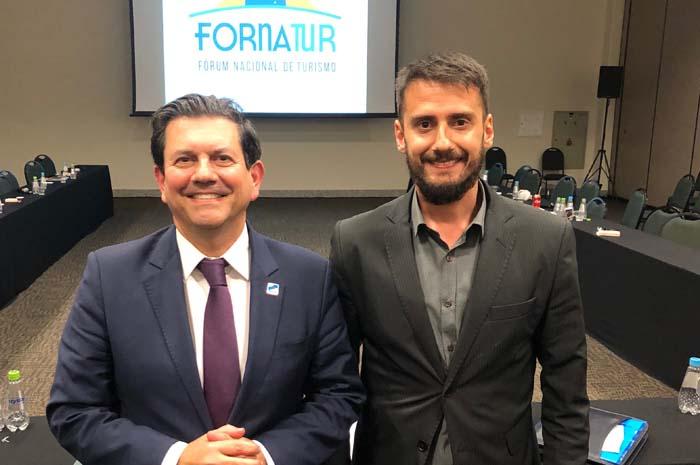 Otavio Leite e Bruno Wendling, chapa que presidirá o Fornatur pelos próximos dois anos