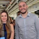 Patricia Graciano, da CVC Corp, e Guilherme Junkert, da MG Travel,