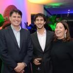 Paulo Costa, da IATA, João Pita, do GRU Airports, e Manoela Silva, da SAA
