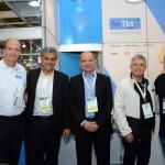 Ralf Aasmann, da Air TKT, Joaquim Domingos e Antonio Americo, da Azul, Ricardo Paci, da Tyller, e Carlos Vazquez, da Ideas Fractal