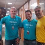 Ricardo Morais, Valdir Moeller, Cristiano Dafré e Marcelo Rolim, da Ancoradouro