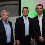 Ricardo Paci, da Tyller, Gleyson Ranieri, diretor da Air Canada, e Márvio Mansur, da Flytour Gapnet Consolidadora