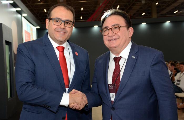 Roberto Bertino, presidente da Rede Nobile, e Manoel Linhares, presidente da ABIH Nacional