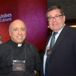 Rodolfo de Vasconcelos, do Santuario Notre Dame de Lourdes, e Bertrand Bilger, Aeroporto Tarbes Lourdes Pyrénées