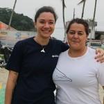 Rosane Farah, biólogola responsável do Gremar e Andrea Maranho coordenadora do Gremar