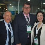 Sebastião Pereira, Marcos Lucas e Juliana Assumpção, da Aviesp