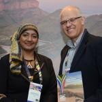 Shanaaz Ebrahim, cônsul da África do Sul e Altamiro Medici, da SAA