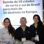 Simone Caniello, Luis Quaggio e Claudia Marinario, da Tap Air POrtugal