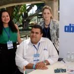Tais Silva, Tiago Fantini, e Amanda Gamero, da Abreu