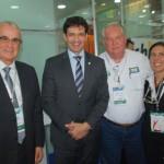 Tarcisio Gargioni, Marcelo Alvaro, Ministro do Turismo, Roy Taylor, do M&E, e Gisele Lima, da Promo