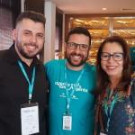 Thiago de Freitas, da Intercities Turismo Lorena (PR), Bruno Seraphim, da Ancoradouro e Gisele Ferreira – Zaroni Viagens de Cruzeiro