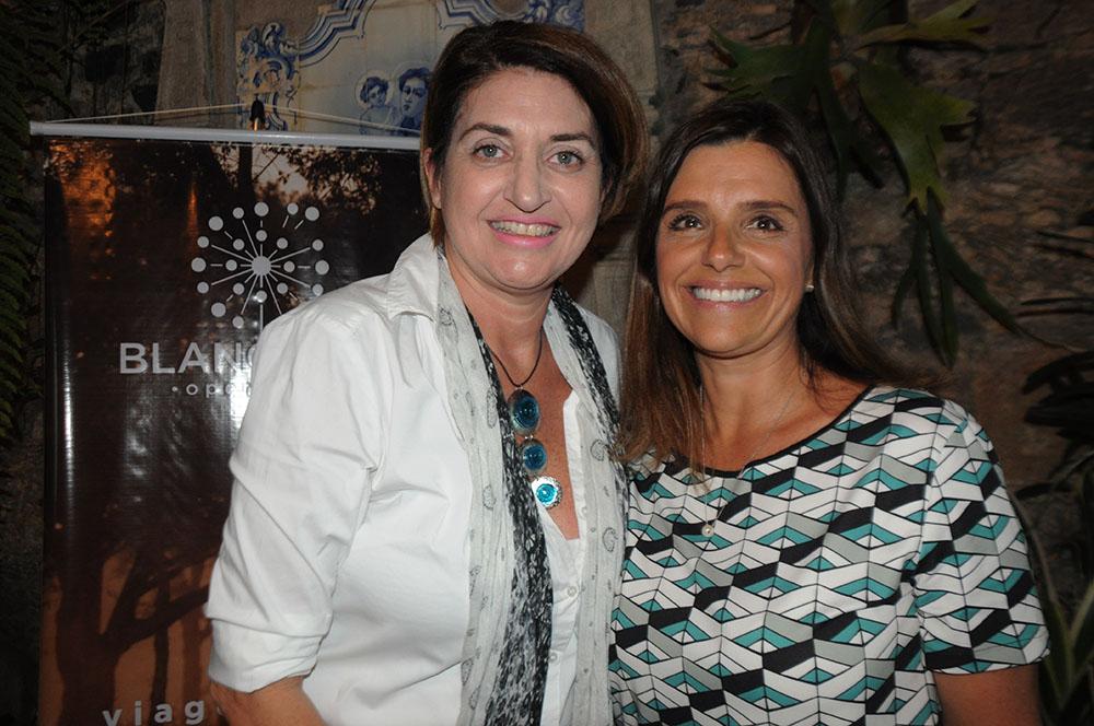 Vanda Catao, de Lucerna e Titlis, com Aurea Carvalhal, da Blanctour