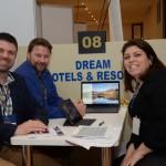 Wayne Neath e Chris Snyman, da Dream Hotels & Resorts, Melissa Esperidião, da MGM