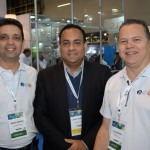Wesley Andrade e Valter Matias, da PVT Consolidadora, e Josue Silva, da Aviareps
