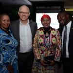 Zuks Ramasia, CEO da SAA, Altamiro Medici, diretor da SAA no Brasil, Shanaaz Ebrahim, cônsul da África do Sul, e Joseph Mashimbye, Embaixador da África do Sul