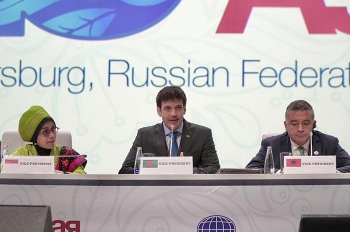 Ministro Marcelo Álvaro Antônio na 23ª Assembleia Geral da Organização Mundial do Turismo (OMT) | Foto: Helano Stuckert