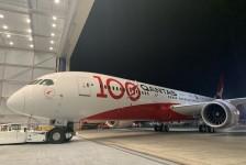 Qantas terá B787 com pintura especial em celebração aos 100 anos de história