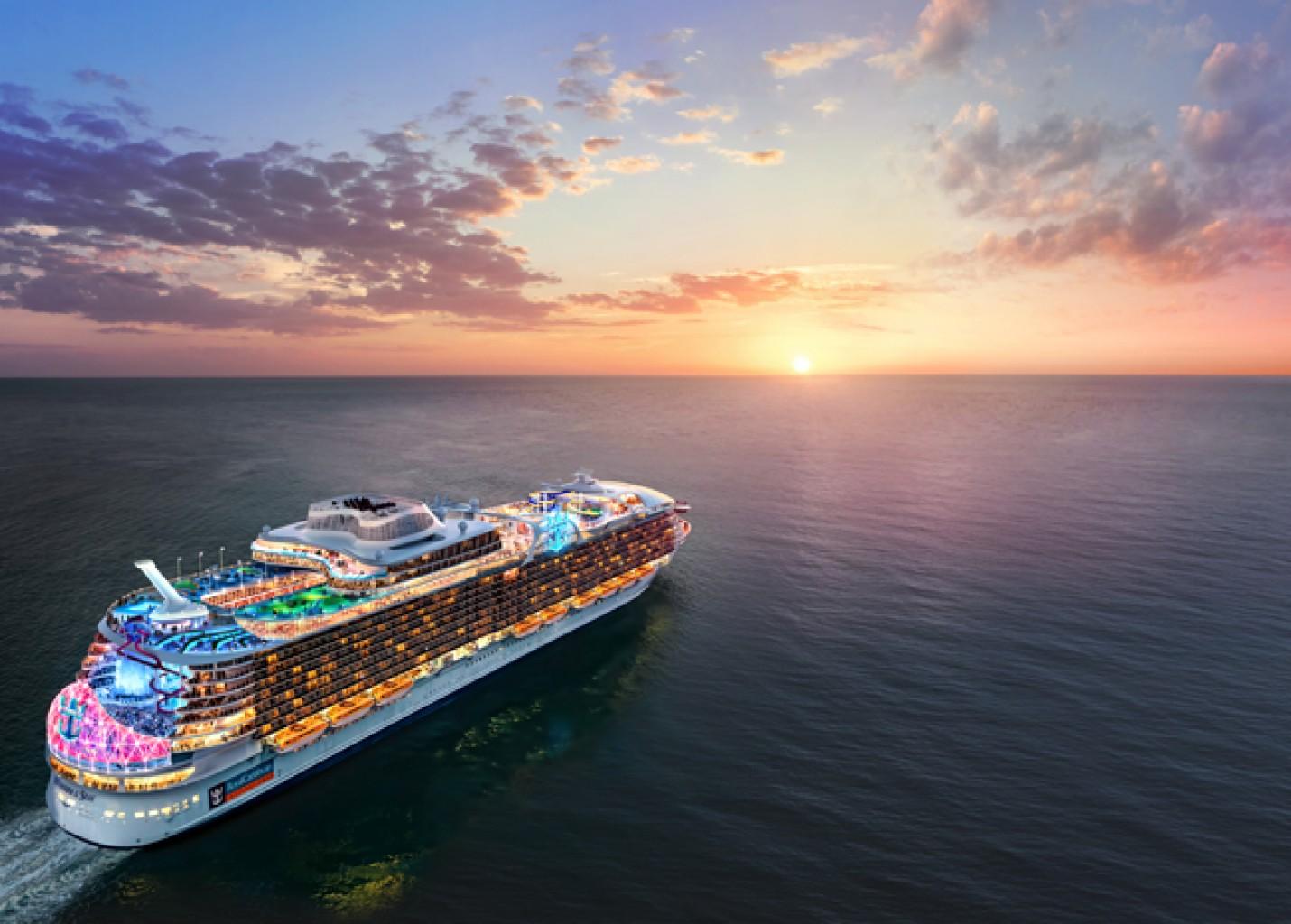 Royal Caribbean revela o Wonder of the Seas, maior navio de cruzeiros do mundo