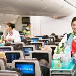 A bordo, a Korean Air preparou um vídeo especial para mostrar a rota de Ho Chi Minh há 50 anos.