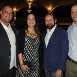 Adriano Gomes, da CVC, Denise Fortuna, da TAP, Guilherme Paulus, da GJP, e Roberto Roman, da Travel Ace
