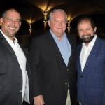 Adriano Gomes, da CVC, Roy Taylor, do M&E, e Guilherme Paulus, da GJP