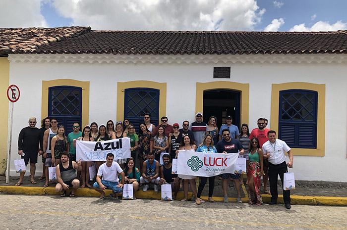 Agentes participantes da campanha Azul da Cor do Mar de Alagoas