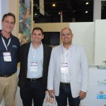 Alexander Balardjischvili, da C2Rio, com Ullyses Covas e Carlos Miler, de Angra dos Reis