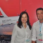 Ana Lúcia Gomes e Gleyson Ranieri, da Air Canadá