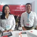 Ana Lucia Gomes e Gleyson Ranieri, da Air Canada