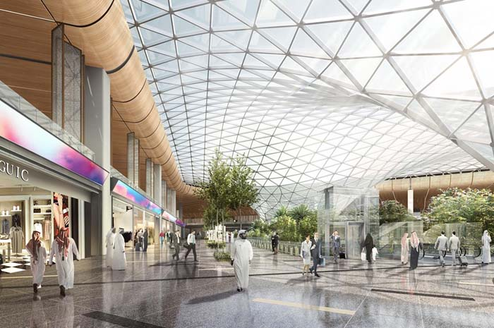 Arte conceitual do Aeroporto Internacional de Hamad