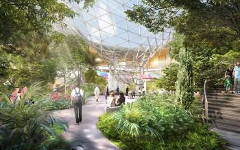 Com fontes e jardim tropical, Qatar prepara expansão do aeroporto para Copa de 2022