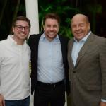 Bob Rossato, da Viajanet, André Khouri, da CNT, e José Roberto Trinca, da American Airlines