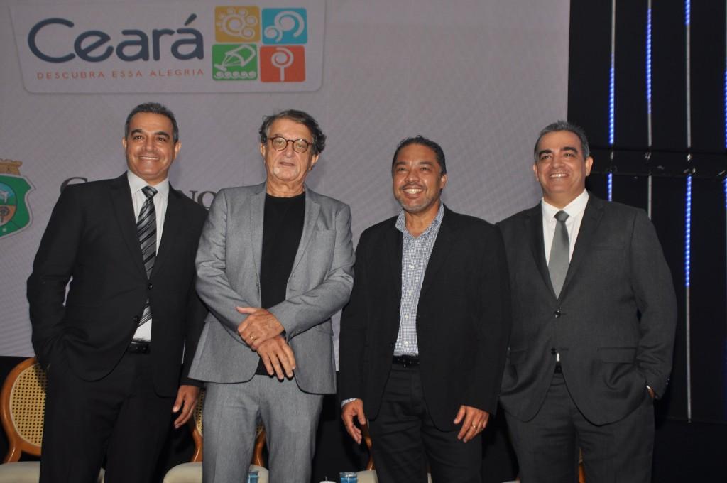Breno Mesquita, Arialdo Pinho, Claudio Junior e Bruno Mesquita durante o anúncio da BTM, em outubro de 2019.