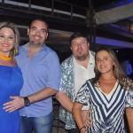 Bruna Granado e Rogério Fontana, da Fontana Turismo, de Cosmópolis-SP, com Edson e Tercila Agudo da TM Turismo de Presidente Prudente-SP
