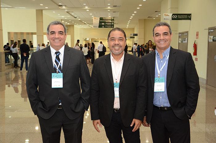 Bruno Mesquita, Claudio Junior e Breno Mesquita, da Brazil Travel Market (BTM)