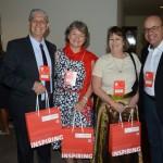 Carlos Dezen, Suzane Hammer, Esther Bourqui, da Senator, e Luis Lintner, da Appina Travel