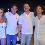 Carolainne David e Evandro Kakuda, A&C Turismo, de Itubiara-GO, com João Paulo Simões e Paulo Backeuser, da Refugio da Serra Viagens e Turismo-MG