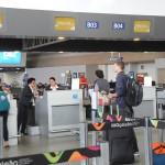 Check-in para o voo inaugural da Flybondi para Buenos Aires