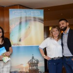 Cintia Silva, da Decameron Hotéis, com Cristiane Cortizo e Rodrigo Pereira, da Copa Airlines