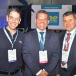 Cristiano Placeres, da CVC, Sales Neto, secretário de Turismo do Sergipe, e Felipe Gonzalez, da Cassinotur