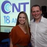 Daniel Santoro, da Iberia BA, e Carolina Tavares, da Qatar Airways