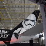 Detalhes da nave temática de Star Wars