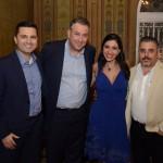 Diego Oliveira e Anderson Canazza, da RCI Travel, com Alessandra Tortora e Jorge Khouri, da CNT