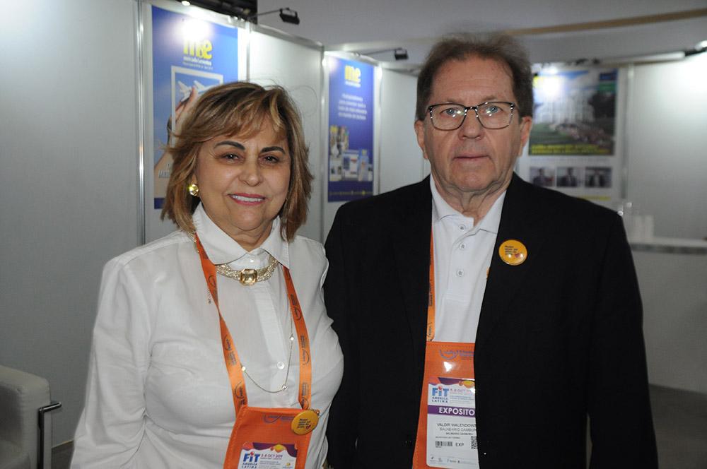 Dirce Fistarol, empresária e hoteleira, e Valdir Walendowsky, secretário de Turismo de Balneário Camboriú