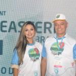 Diva e Jaelson Andrade, da Secretaria de Turismo de Itatuba